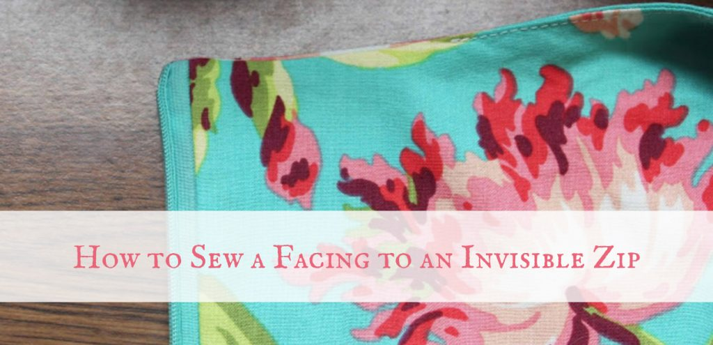 How to Sew A Neck Facing to an Invisible Zip
